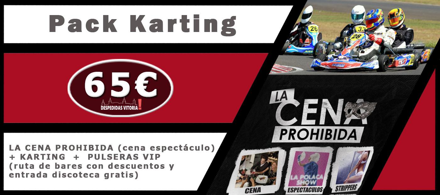 Pack Karting despedidas Vitoria de solteros y de solteras. Organizadores de eventos y actividades de fiestas de despedidas en Alava.
